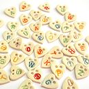Personalised Heart Buttons