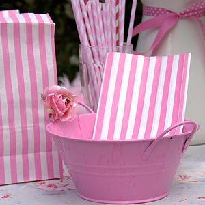 Pink Metal Bowl - sweet bar accessories