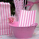 Pink Metal Bowl