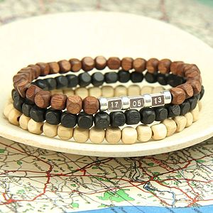 Personalised Men's Secret Message Bracelet - summer wristwear