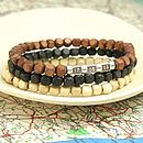 Personalised Men's Secret Message Bracelet