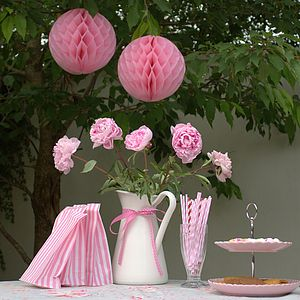 Pink Honeycomb Party Decoration - table decorations