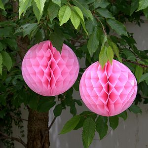 Pink Honeycomb Party Decoration - baby's room