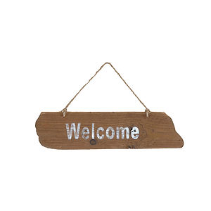 Wood Welcome Sign - outdoor decorations