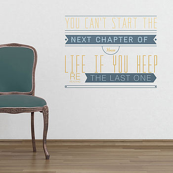 Start The Next Chapter Quote Wall Stickers
