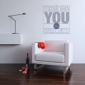 The Best Idea's Quote Wall Stickers - decorative accessories