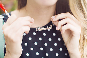 Personalised Handmade Name Necklace - 21st birthday gifts