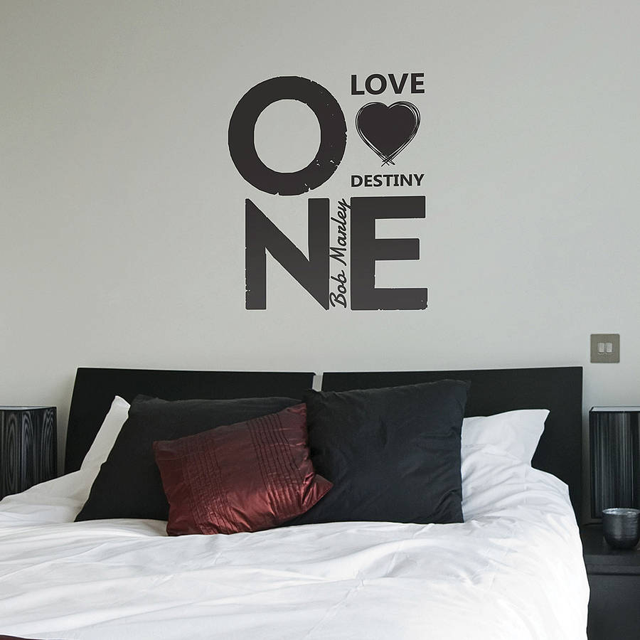 Wall Sticker Quotes Bob Marley : One Love Bob Marley Quote Wall Stickers By  The Binary Part 97