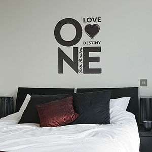 One Love Bob Marley Quote Wall Stickers
