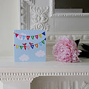 Happy Birthday Bird Bunting Greetings Card