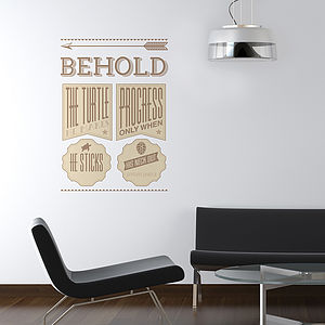 Behold The Turtle Quote Wall Stickers - wall stickers