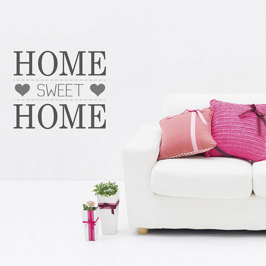 home sweet home wall stickers by the binary box. Black Bedroom Furniture Sets. Home Design Ideas