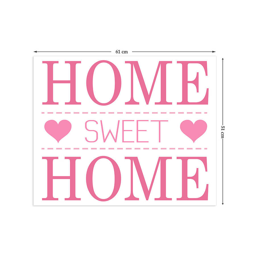 home sweet home wall stickers by the binary box ...
