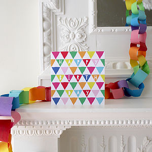 Happy Birthday Triangles Greeting Card