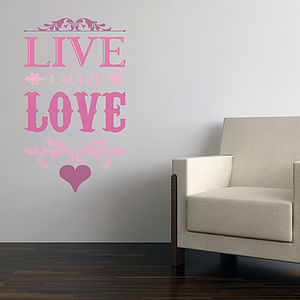 Live Laugh Love Wall Stickers - home decorating