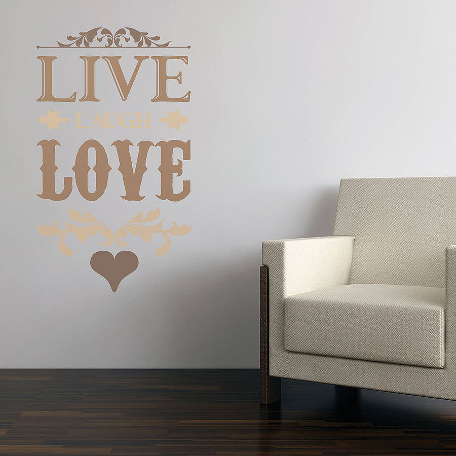 live laugh love wall stickers by the binary box live laugh love wallstickers tekst nicewall dk