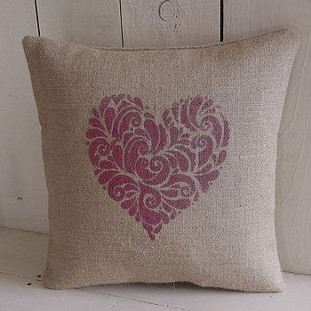 ' Rustic Heart ' Cushion