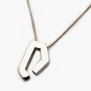 Handmade Geometric Silver Pendant - necklaces & pendants