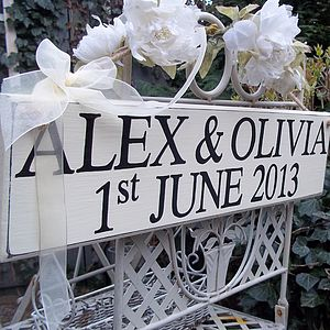 Personalised Vintage Wedding Sign - room decorations