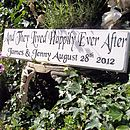 Personalised 'Happily Ever After' Wood Sign