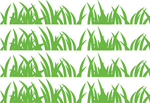 Grass Wall Stickers - office & study