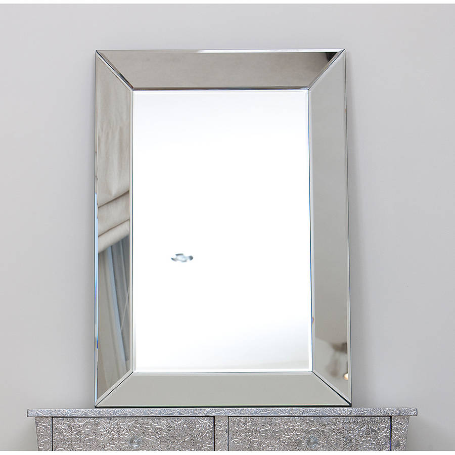 venetian glass mirrored wall mirror choice of sizes by the ForGlass Mirrors For Walls
