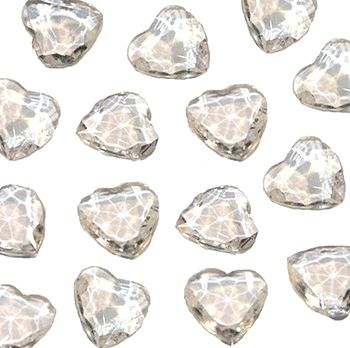 Clear Heart Table Scatter Crystals
