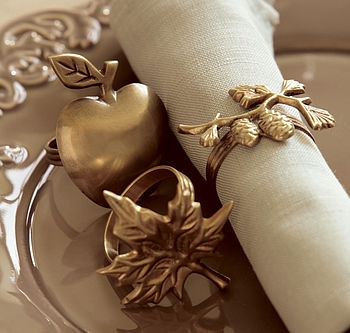 Antique Brass Style Napkin Rings
