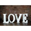 Ceramic White 'Love' Letters