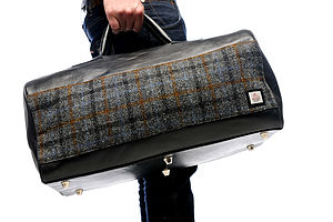 Harris Tweed And Leather Holdall - bags & purses