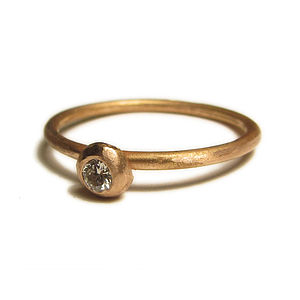 One 18 Ct Gold Diamond Engagement Ring - rings