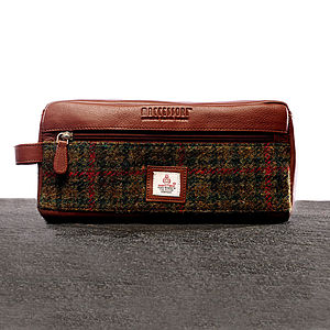 Harris Tweed Wash Bag - wash & toiletry bags