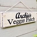 Personalised Veg Garden Or Allotment Sign