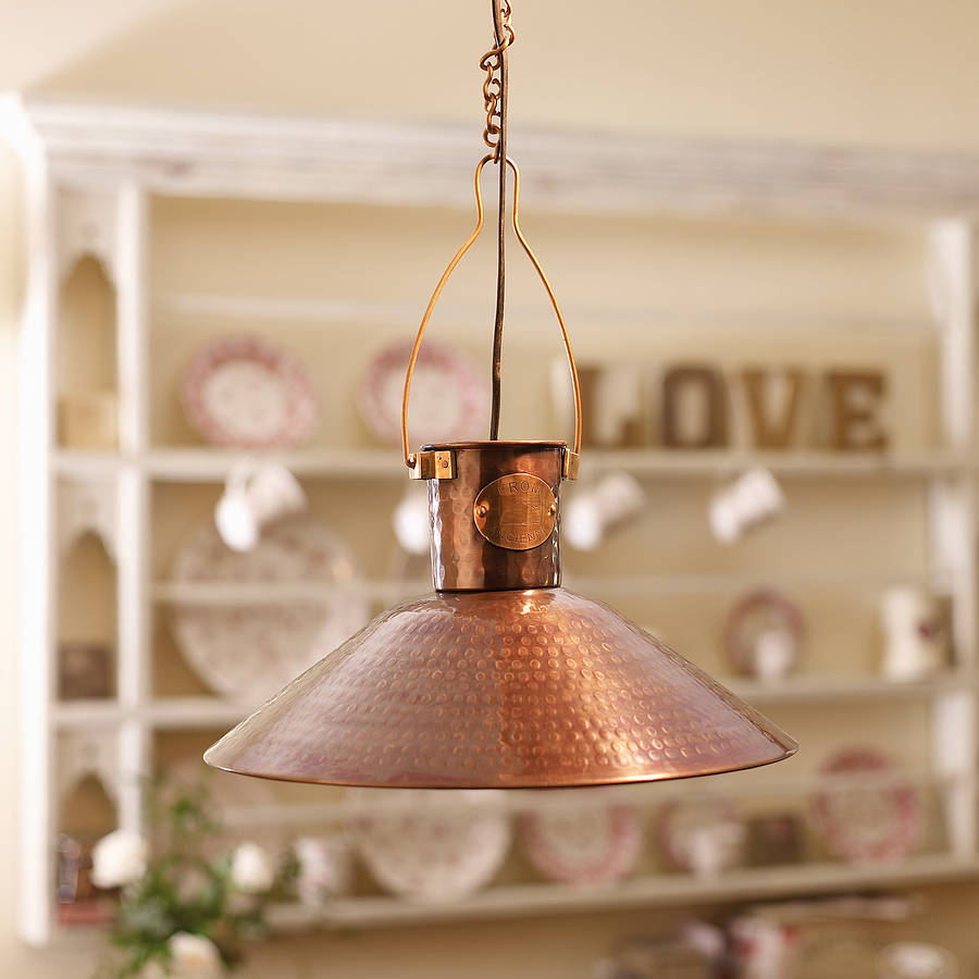 Lighting Lamps: Traditional Copper Pendant Lamp By Dibor