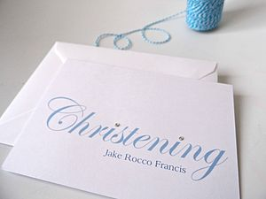 My Baby Christening Invitation - shop by price