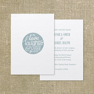 Happily Ever After Wedding Invitation - invitations