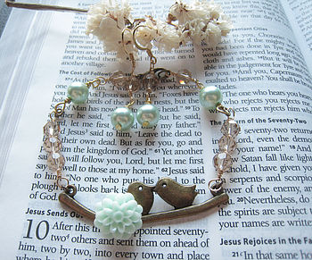 Birds Bracelet And Earring Set