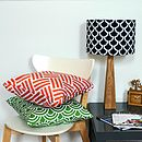 Handmade Fan Stripe Cushion