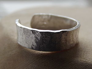 Silver Hammered Toe Ring - rings