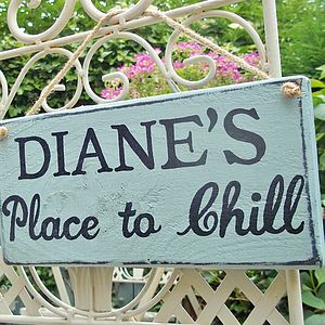 Personalised 'Rustic' Style Wood Garden Sign - art & decorations