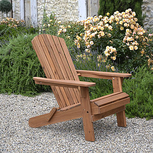 Adirondack Folding Hardwood Chair
