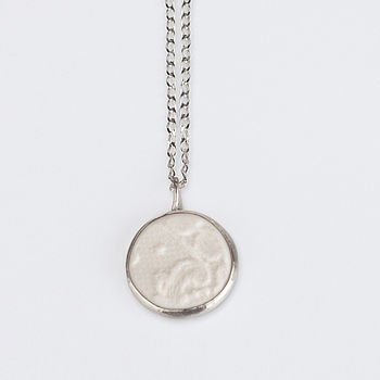 20 % Off Porcelain And Silver Necklace