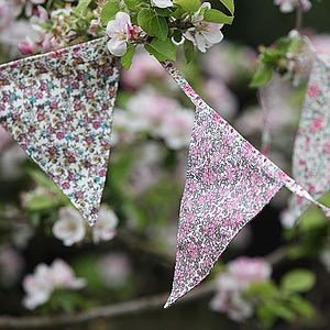 Vintage Floral Triangle Bunting - bunting & garlands