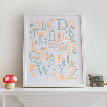 Non-personalised alphabet poster