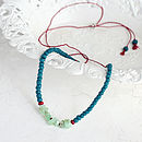 Hand Knotted Coral And Chrysoprase Necklace