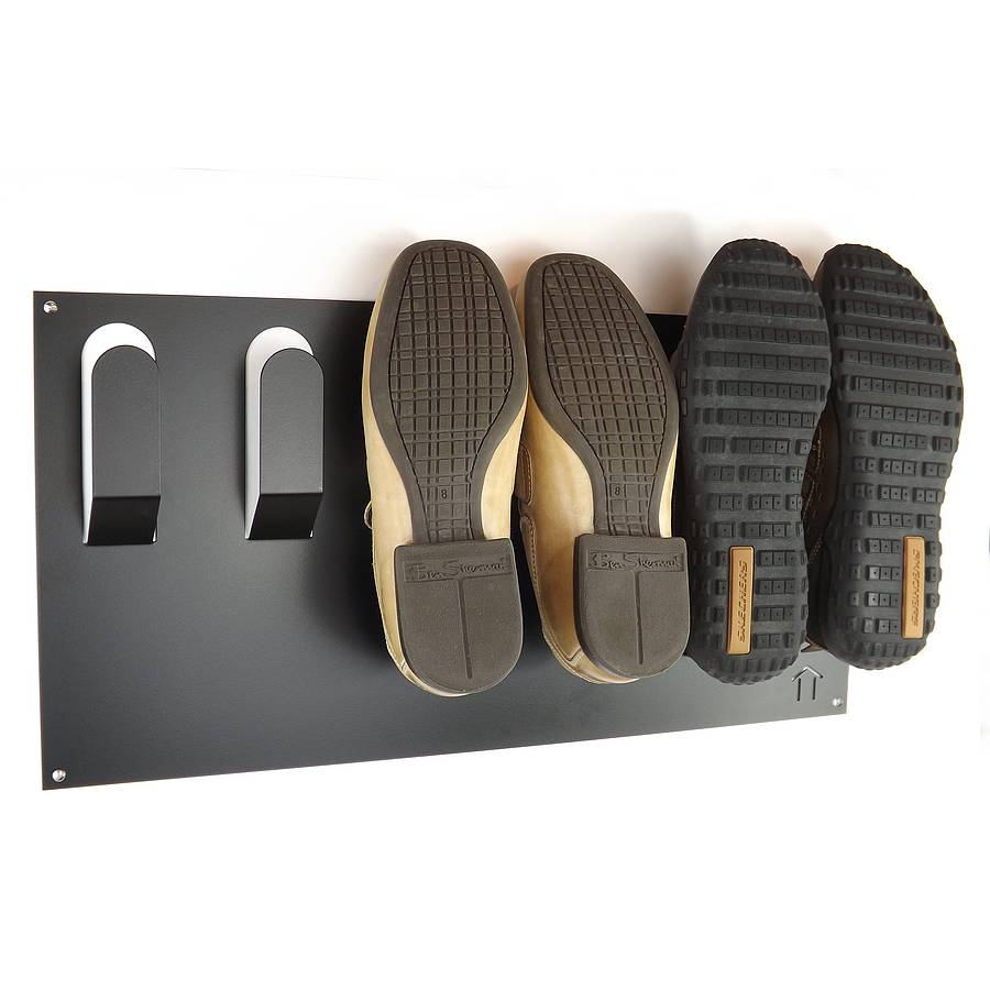 Stylish wall mounted shoe rack by the metal house limited Stylish shoe rack