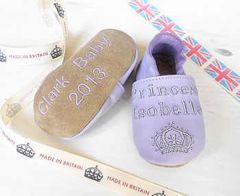 Royal Baby Personalised Princess Baby Shoes
