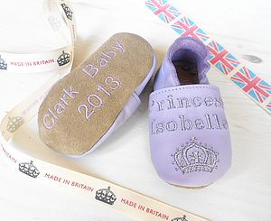 Personalised Princess Baby Shoes - shoes & footwear