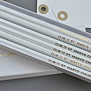 Personalised Gift Boxed Save The Date Pencils