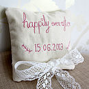 Personalised Wedding Ring Cushion